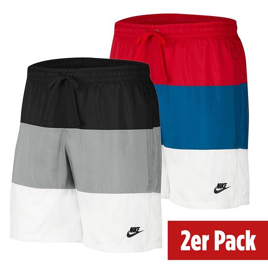 Nike Freizeit- und Badeshorts 3S 2er Set Schwarz/Rot