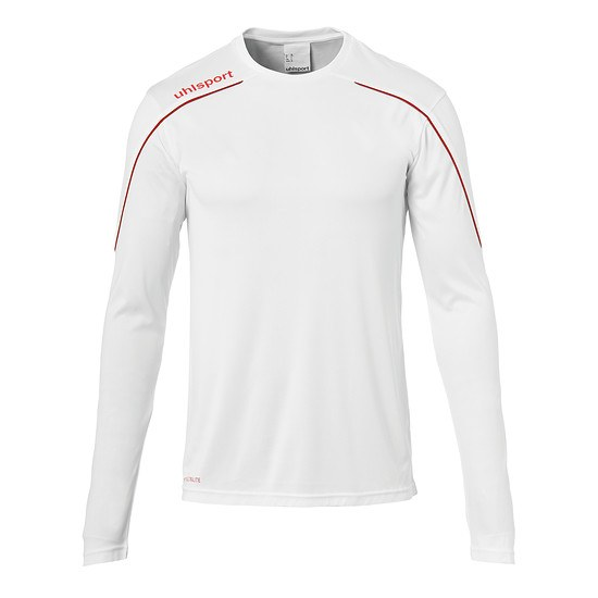 uhlsport Trainingsshirt Langarm Stream 22 weiß/rot