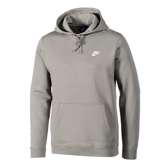 Nike Hoodie Sportswear Swoosh Hellgrau/Weiß