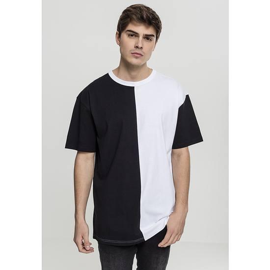 URBAN CLASSICS T-Shirt Oversize Harlequin schwarz/weiß