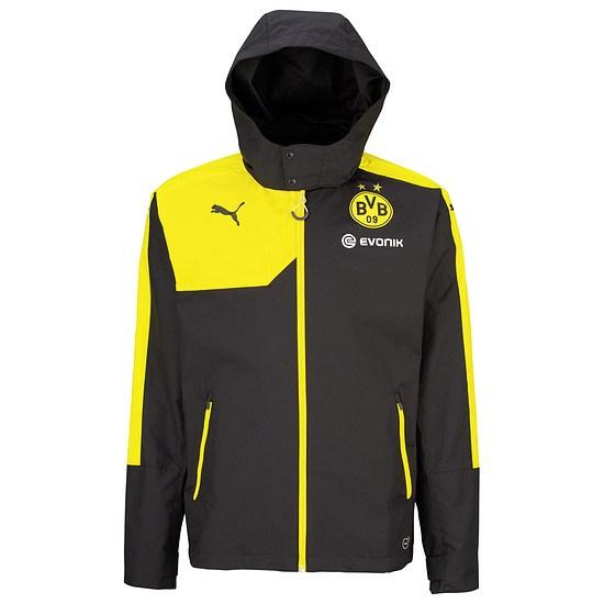 Puma Borussia Dortmund Regenjacke Coach Schwarz/Gelb