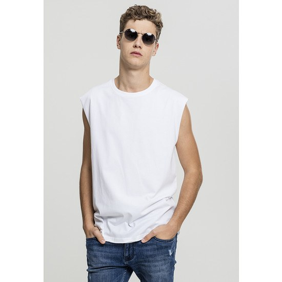 URBAN CLASSICS T-Shirt Open Edge Sleeveless weiß