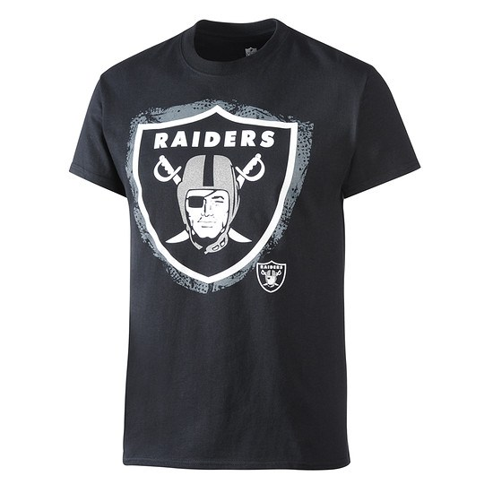 Majestic Athletic Las Vegas Raiders NFL T-Shirt Line to Gain