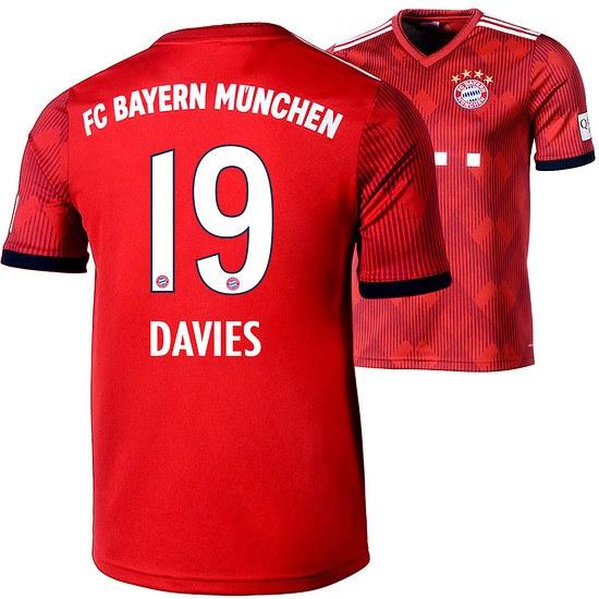 Adidas FC Bayern München Heim Trikot DAVIES 2018/2019