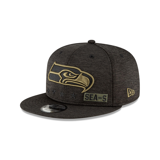 New Era Seattle Seahawks Cap Salute To Service 2020 9FIFTY schwarz