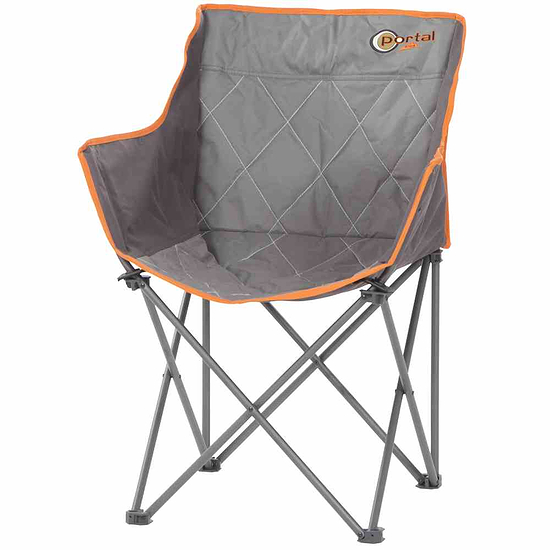 Portal Klappsessel Tom 44x45x44 cm grau/orange