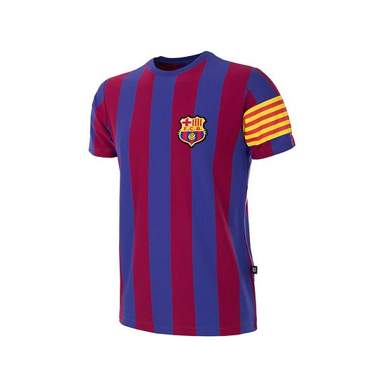 Copa FC Barcelona Captain Retro T-Shirt Kinder blau/rot