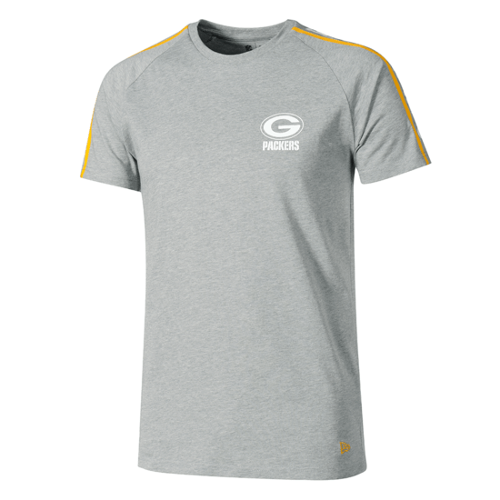 New Era Green Bay Packers T-Shirt Raglan Shoulder Print grau