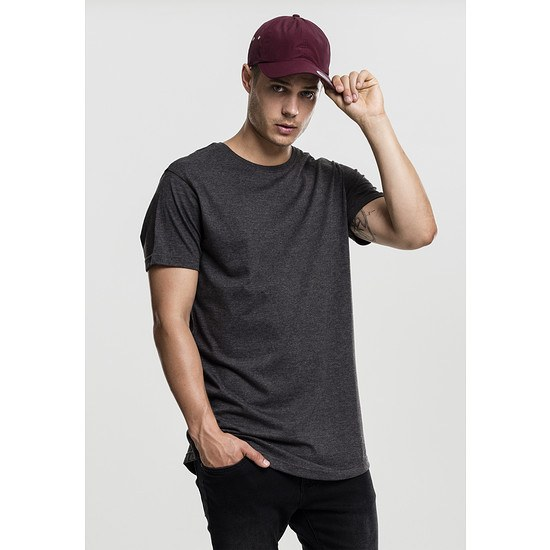 URBAN CLASSICS T-Shirt Shaped Melange Long dunkelgrau