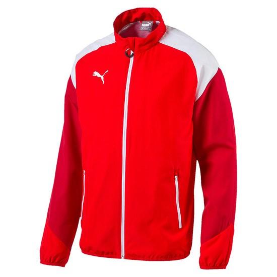 Puma Freizeitjacke Team Rot/Weiß