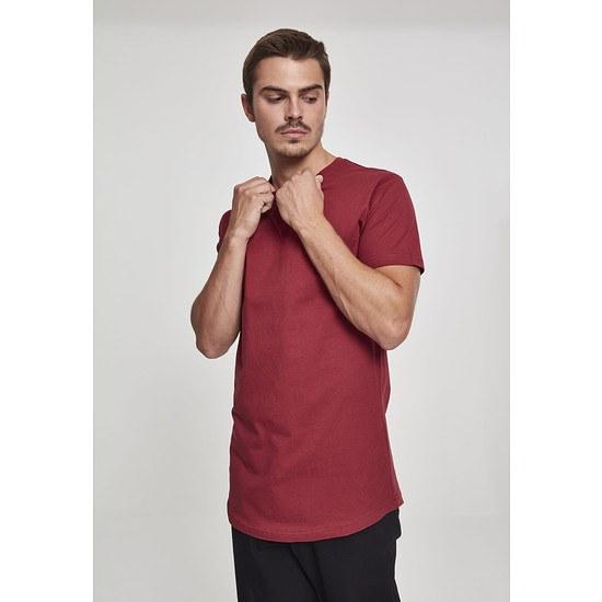 URBAN CLASSICS T-Shirt Shaped Long burgunder