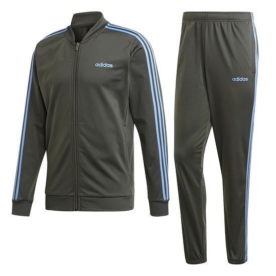 Adidas Trainingsanzug 3 Streifen Grau