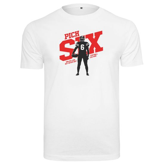 PICK SIX T-Shirt QB Weiß