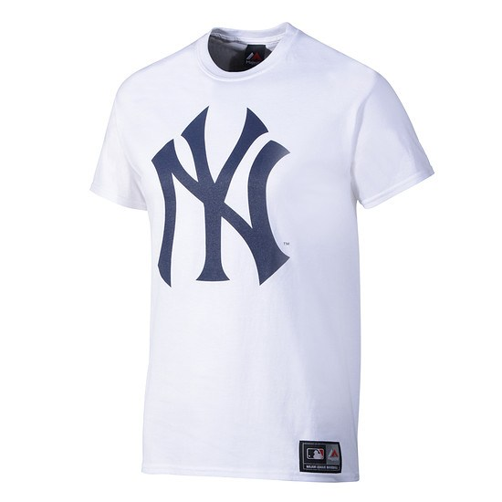 Majestic Athletic New York Yankees T-Shirt Prism Large Logo weiß