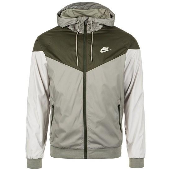 Nike Kapuzenjacke Windrunner grau/braun/weiß