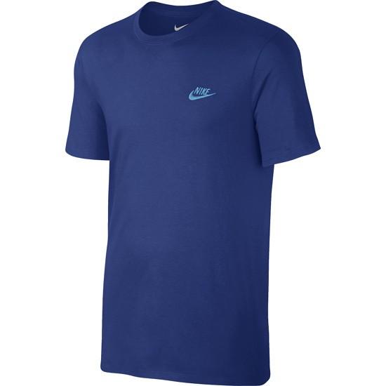 Nike T-Shirt Club Futura Blau/Türkis