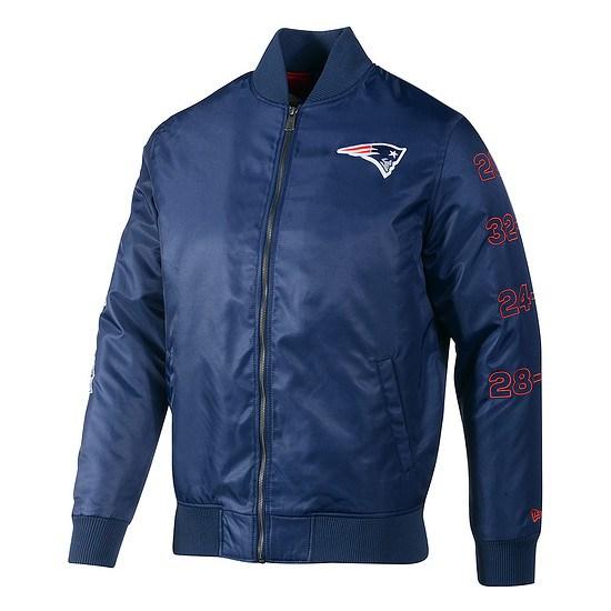 New Era New England Patriots Bomberjacke blau