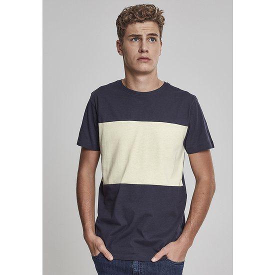 URBAN CLASSICS T-Shirt Contrast Panel navy/gelb