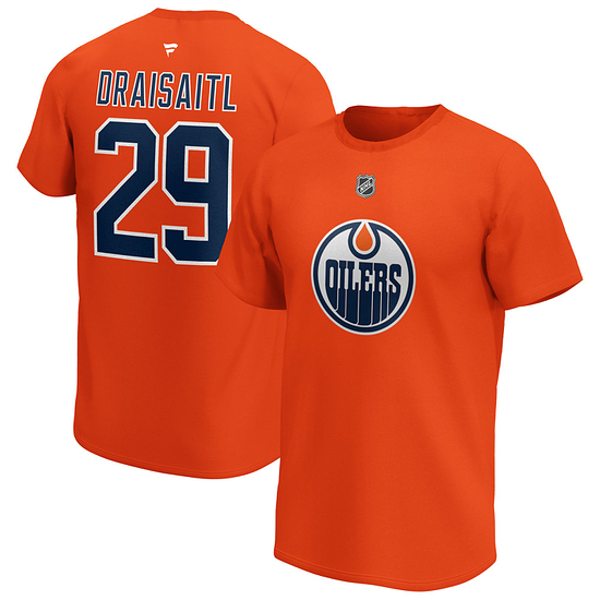 Fanatics Edmonton Oilers T-Shirt Iconic N&N Draisaitl No 29 orange