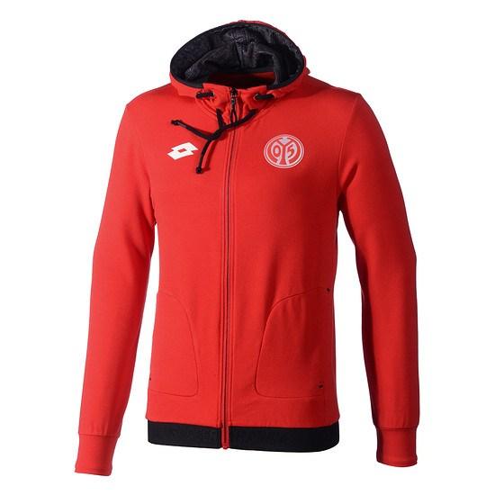 Lotto FSV Mainz 05 Zip-Hoodie Off Rot/Schwarz