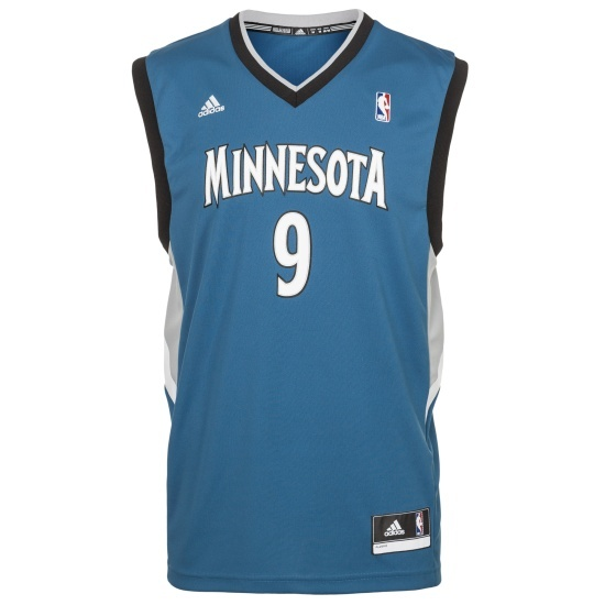 Adidas Minnesota Basketballtrikot Rubio blau/weiß
