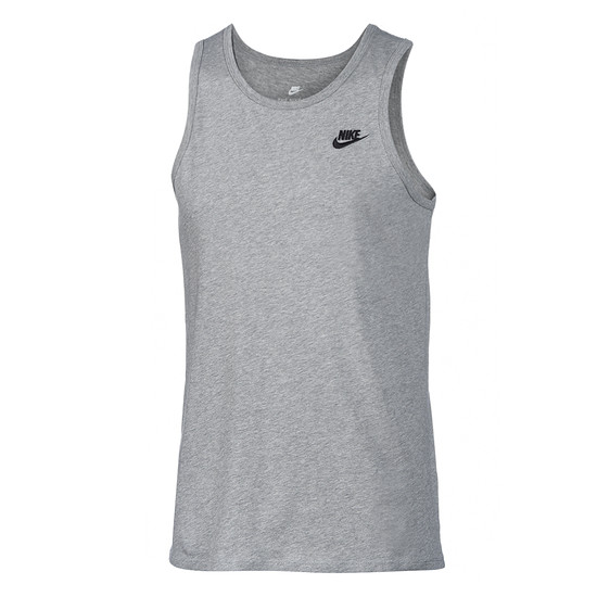 Nike Tanktop Club Futura dunkelgrau/schwarz
