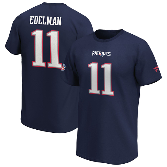 Fanatics New England Patriots T-Shirt Iconic N&N Edelman No 11 navy