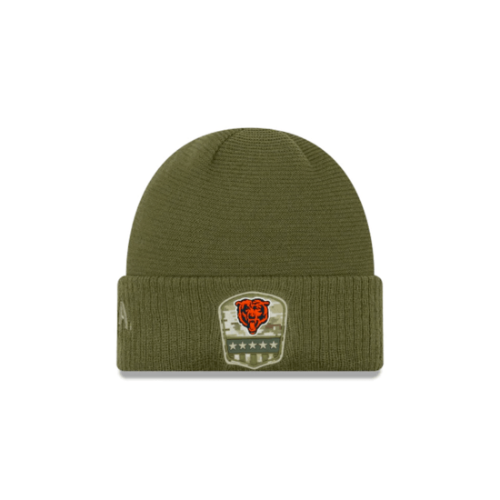 New Era Chicago Bears Beanie Salute To Service 2019 oliv