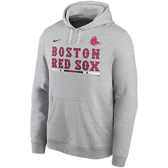 Nike Boston Red Sox Hoodie Color Bar Club grau