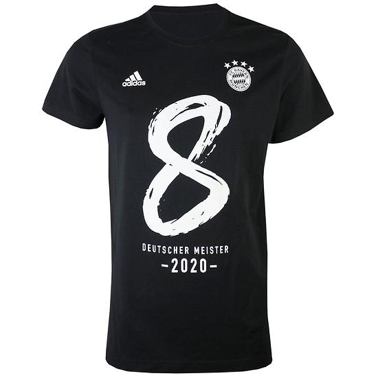 Adidas FC Bayern München T-Shirt MEISTER 2020 Schwarz