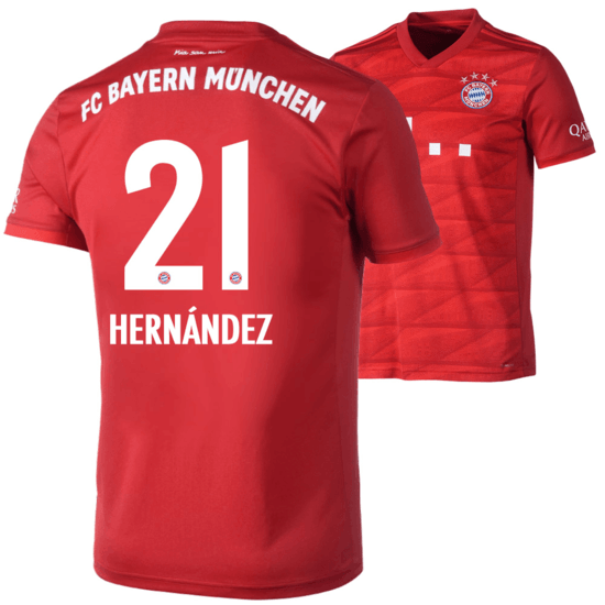 Adidas FC Bayern München Heim Trikot HERNÁNDEZ 2019/2020 Kinder