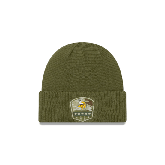 New Era Minnesota Vikings Beanie Salute To Service oliv
