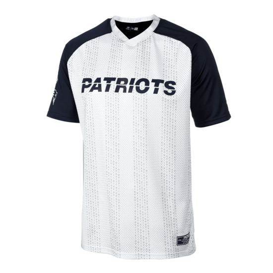 New Era New England Patriots T-Shirt Oversized weiß/blau