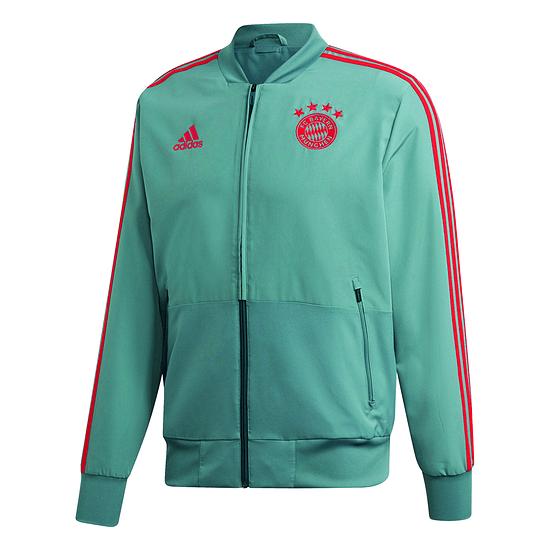 Adidas FC Bayern München Präsentations-Jacke Grün