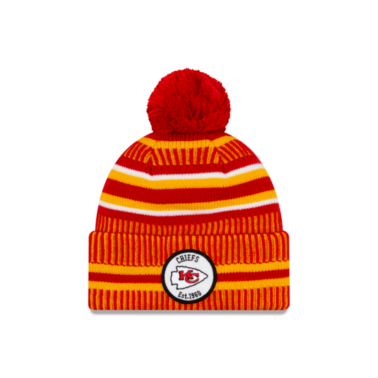 New Era Kansas City Chiefs Beanie On Field Sport Knit HM rot