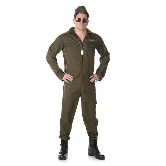 Karnevals- Kostüm Jet Pilot grün