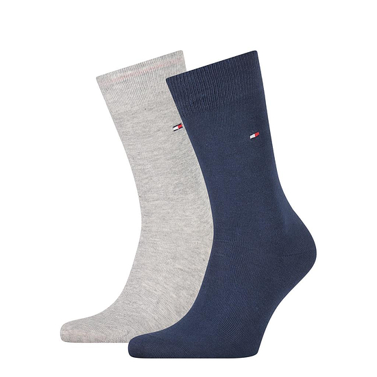 Tommy Hilfiger Socken 2er Pack ICONIC CLASSIC Hellgrau/Blau