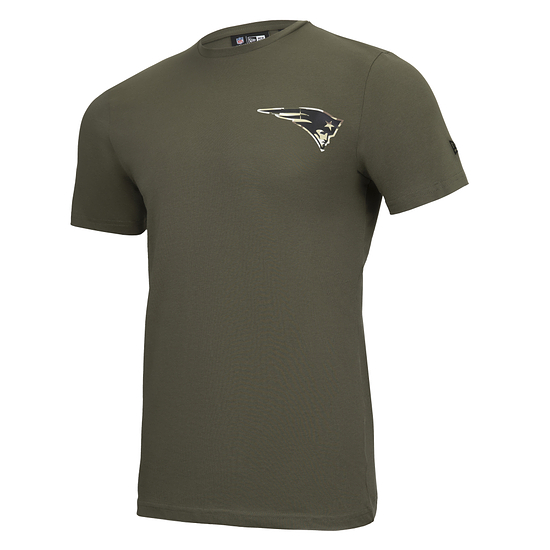 New Era New England Patriots T-Shirt Camo Injection grün
