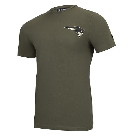 New Era New England Patriots T-Shirt Camo Injection grün