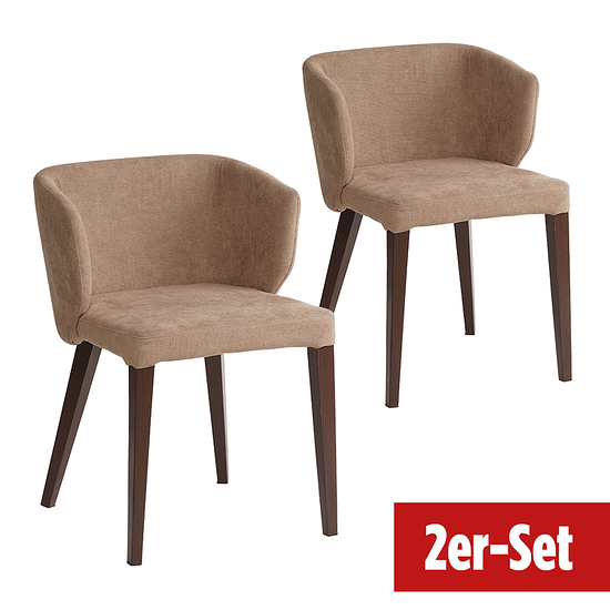 BREAZZ Stuhl Fabric 2er Set sand