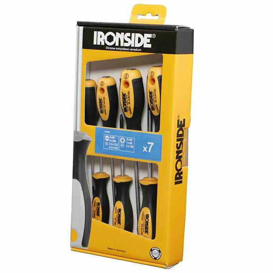 Ironside Schraubendreher-Set 7tlg 2500 gelb/schwarz