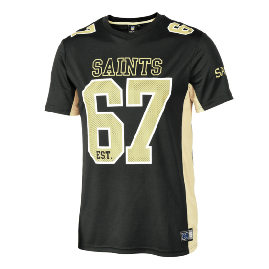 Fanatics New Orleans Saints T-Shirt Moro Poly Mesh schwarz