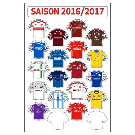 Update-Set Trikots für Magnettabelle 2. Liga 16/17