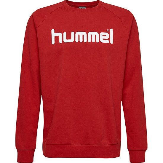 hummel Sweatshirt Cotton Logo rot