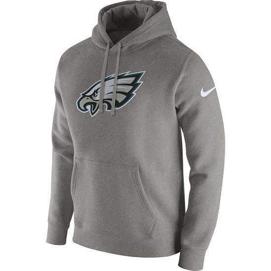 Nike Philadelphia Eagles NFL Club Hoodie Dunkelgrau
