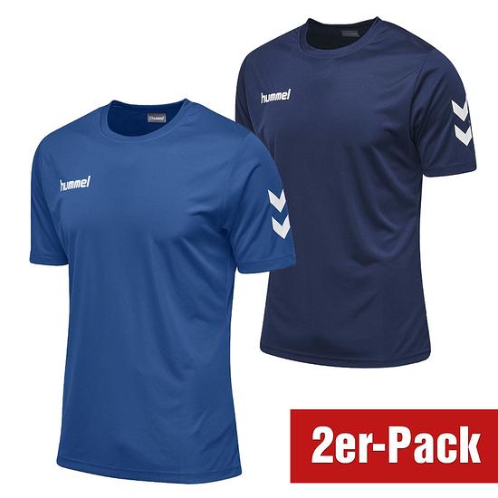 hummel 2er Set T-Shirt Core Poly Marine/Blau