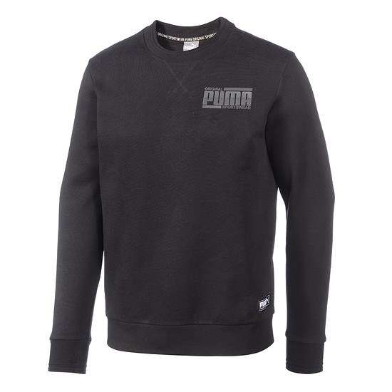 Puma Sweatshirt Athletics Crew schwarz