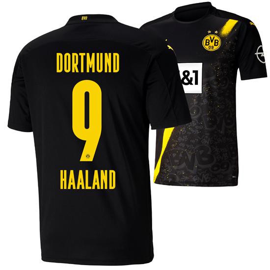 Puma Borussia Dortmund Auswärts Trikot HAALAND 2020/2021 Kinder