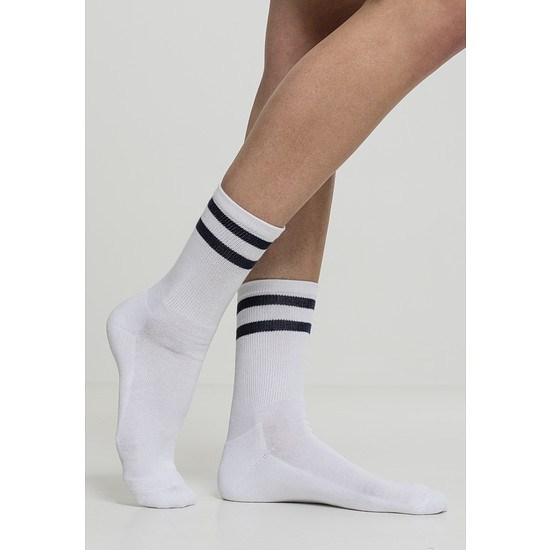 URBAN CLASSICS Socken 2-Stripe 2er-Pack weiß/navy
