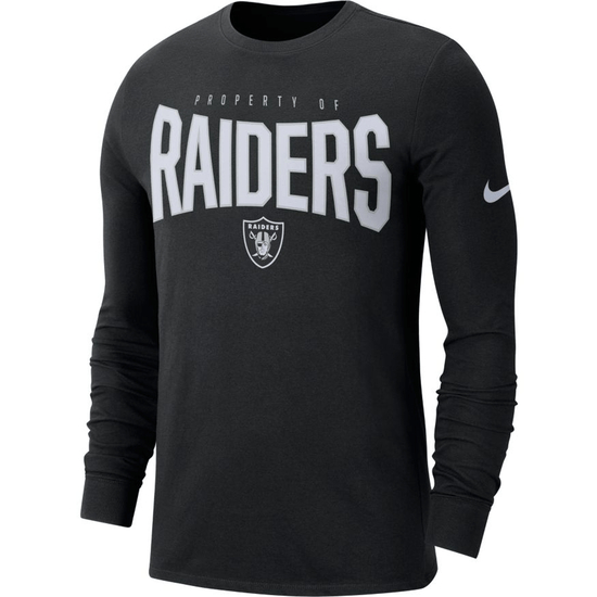 Nike Oakland Raiders Longsleeve Shirt 2019/2020 Schwarz